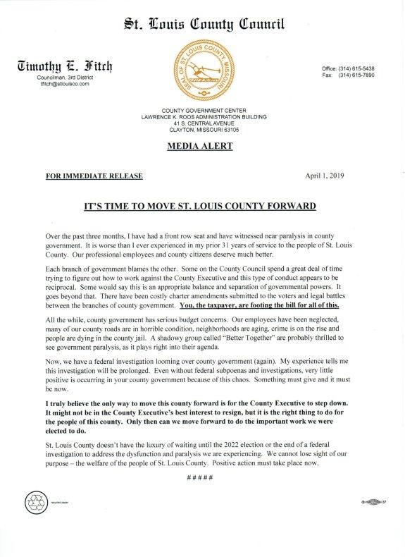 County Executive Resign